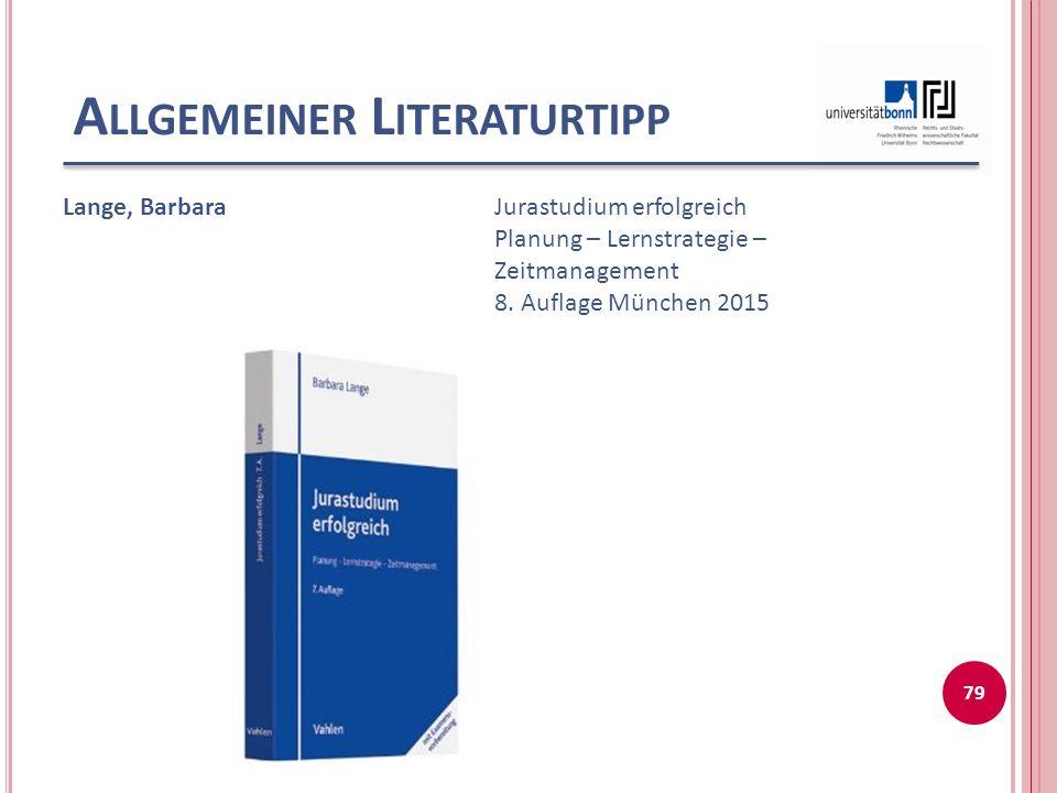 Allgemeiner Literaturtipp