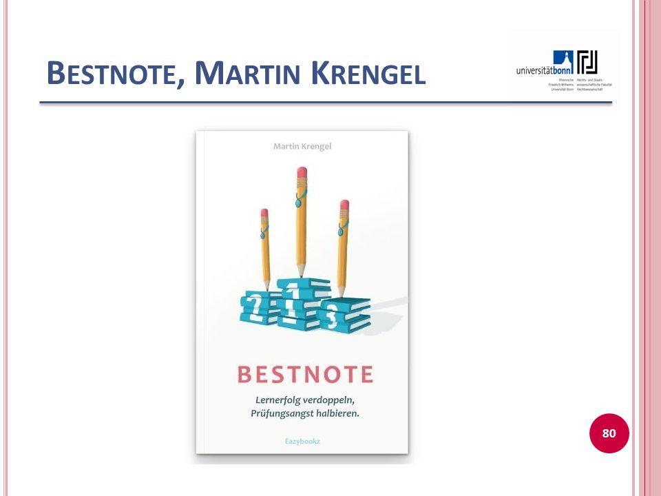 Bestnote, Martin Krengel