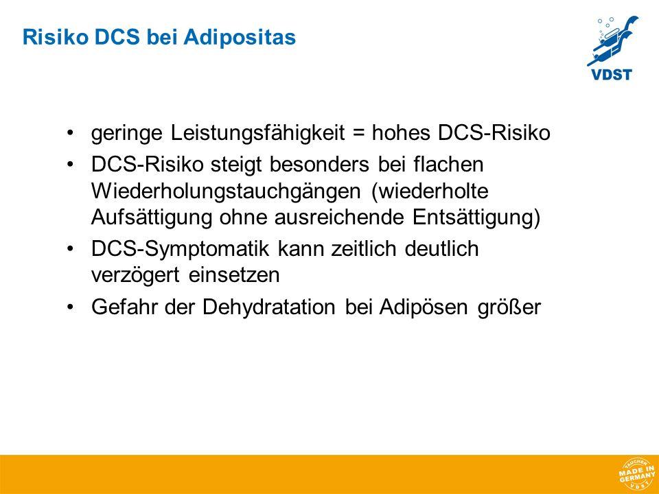 Risiko DCS bei Adipositas