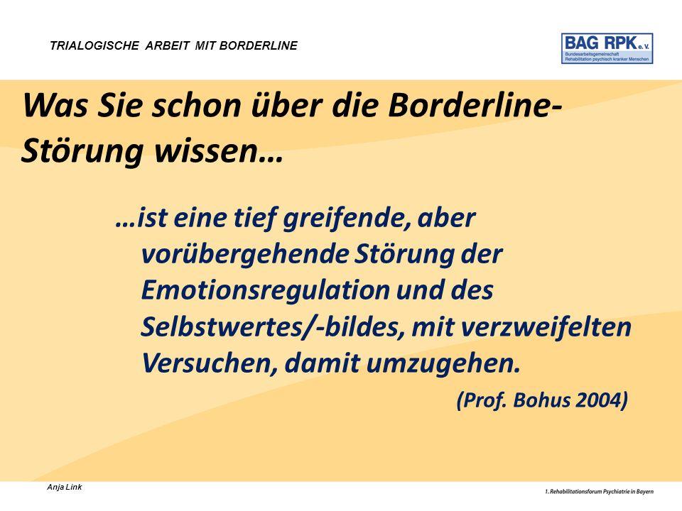 Was Sie schon über die Borderline-Störung wissen…