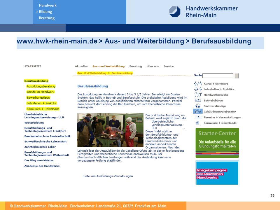 www.hwk-rhein-main.de > Aus- und Weiterbildung > Berufsausbildung