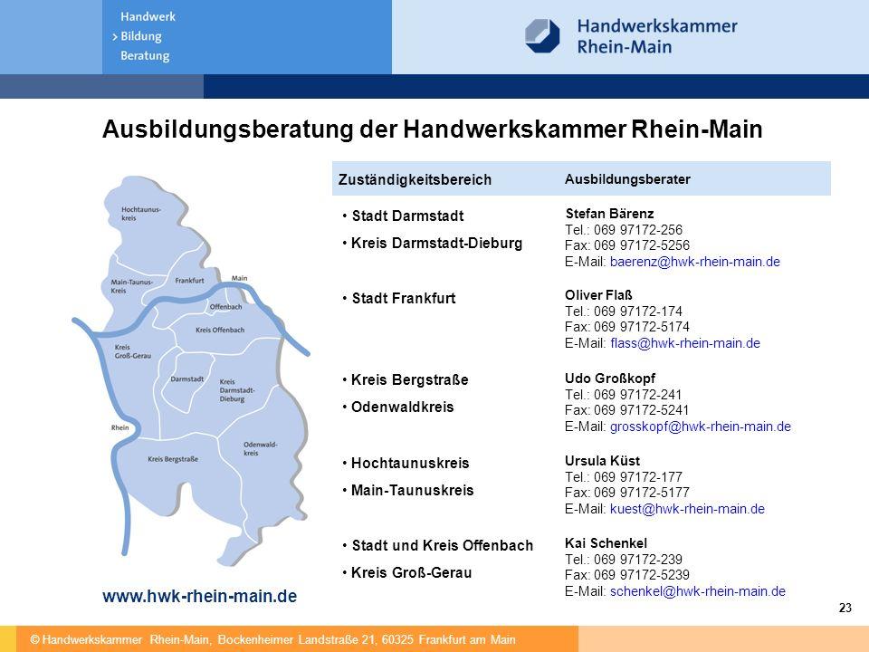 Ausbildungsberatung der Handwerkskammer Rhein-Main