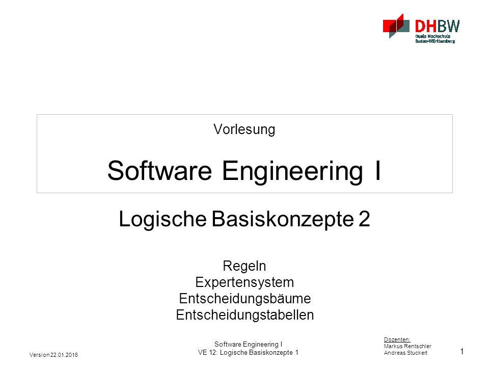 Vorlesung Software Engineering I