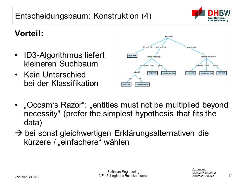 Entscheidungsbaum: Konstruktion (4)