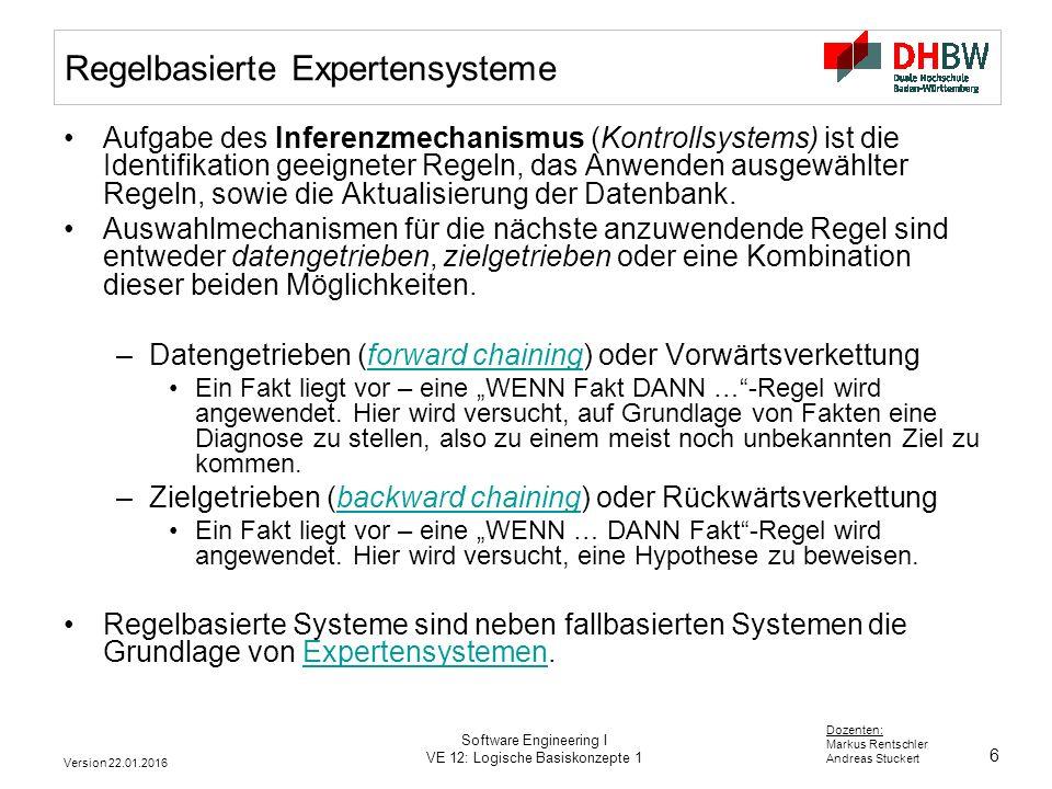 Regelbasierte Expertensysteme