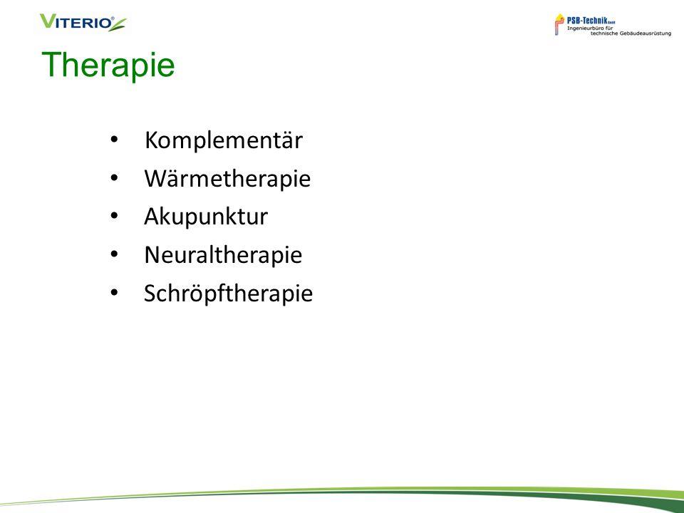 Therapie Komplementär Wärmetherapie Akupunktur Neuraltherapie