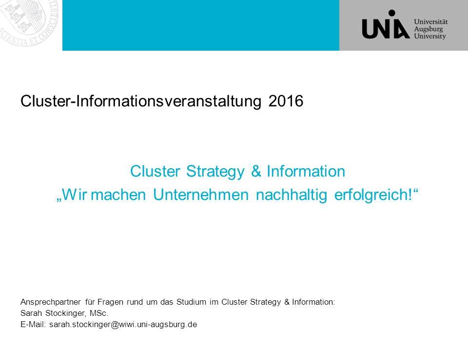 Cluster-Informationsveranstaltung 2016