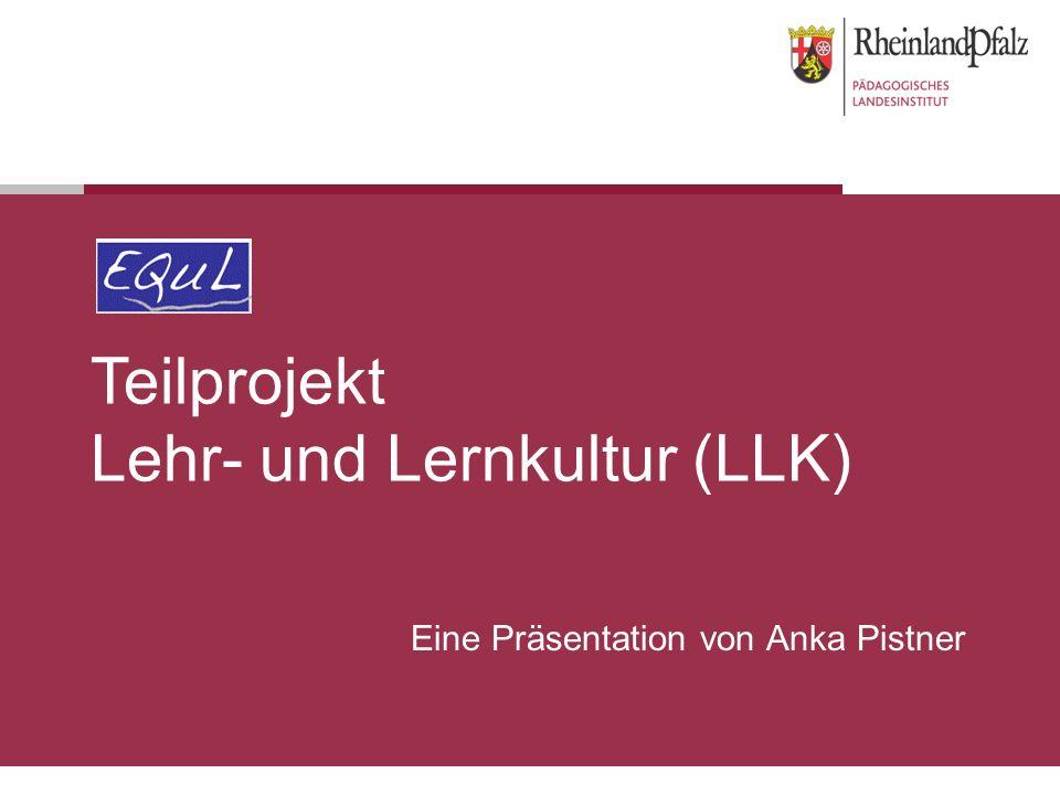 Teilprojekt Lehr- und Lernkultur (LLK)