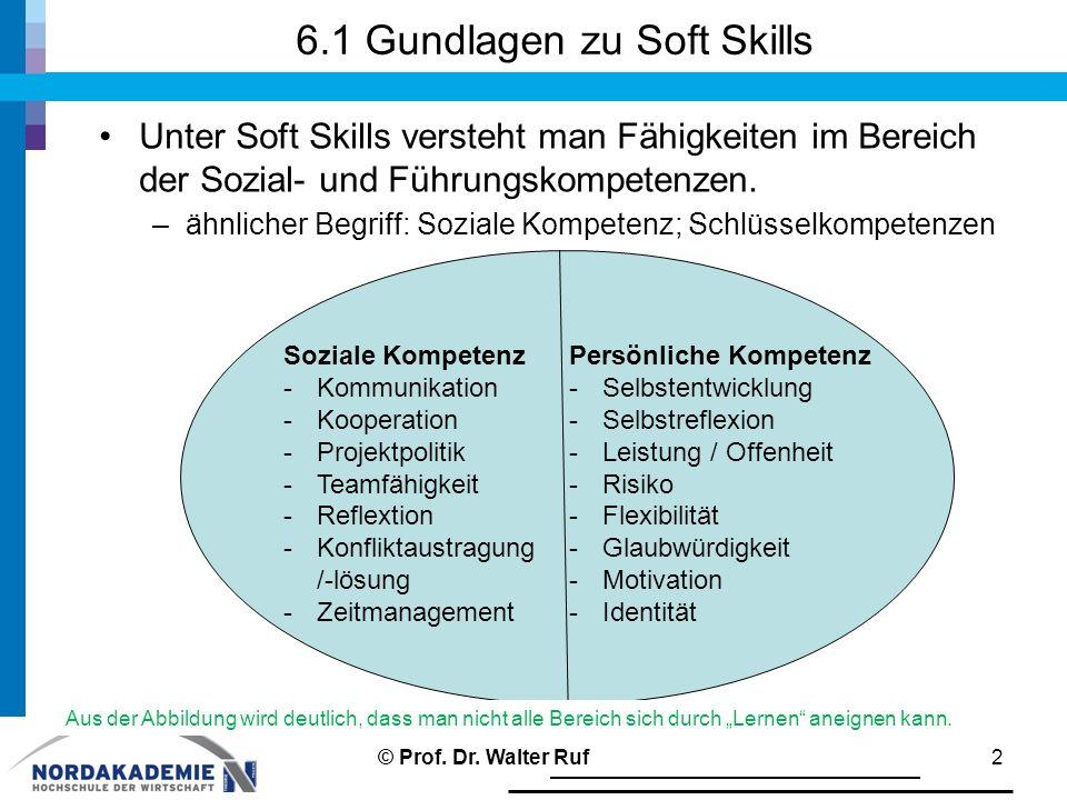 6.1 Gundlagen zu Soft Skills
