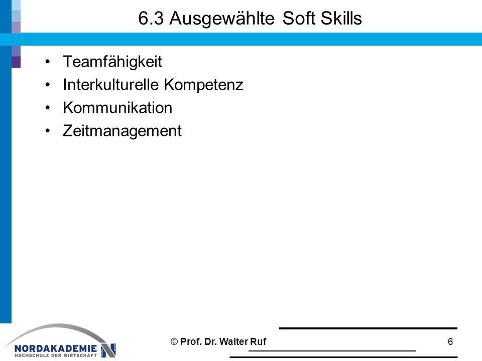 6.3 Ausgewählte Soft Skills