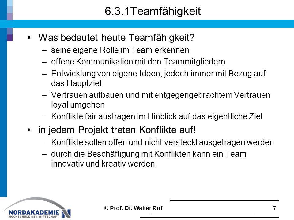 6.3.1Teamfähigkeit Was bedeutet heute Teamfähigkeit