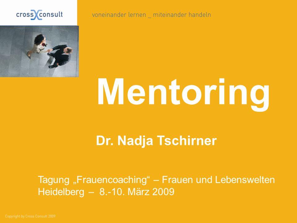 Mentoring Dr. Nadja Tschirner