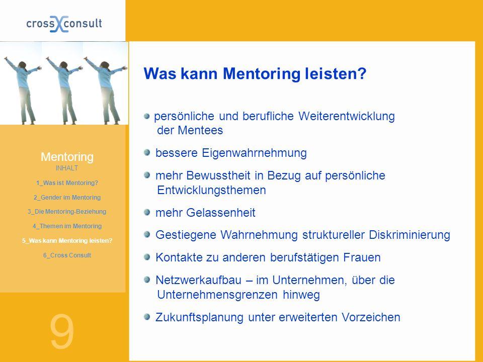 3_Die Mentoring-Beziehung 5_Was kann Mentoring leisten
