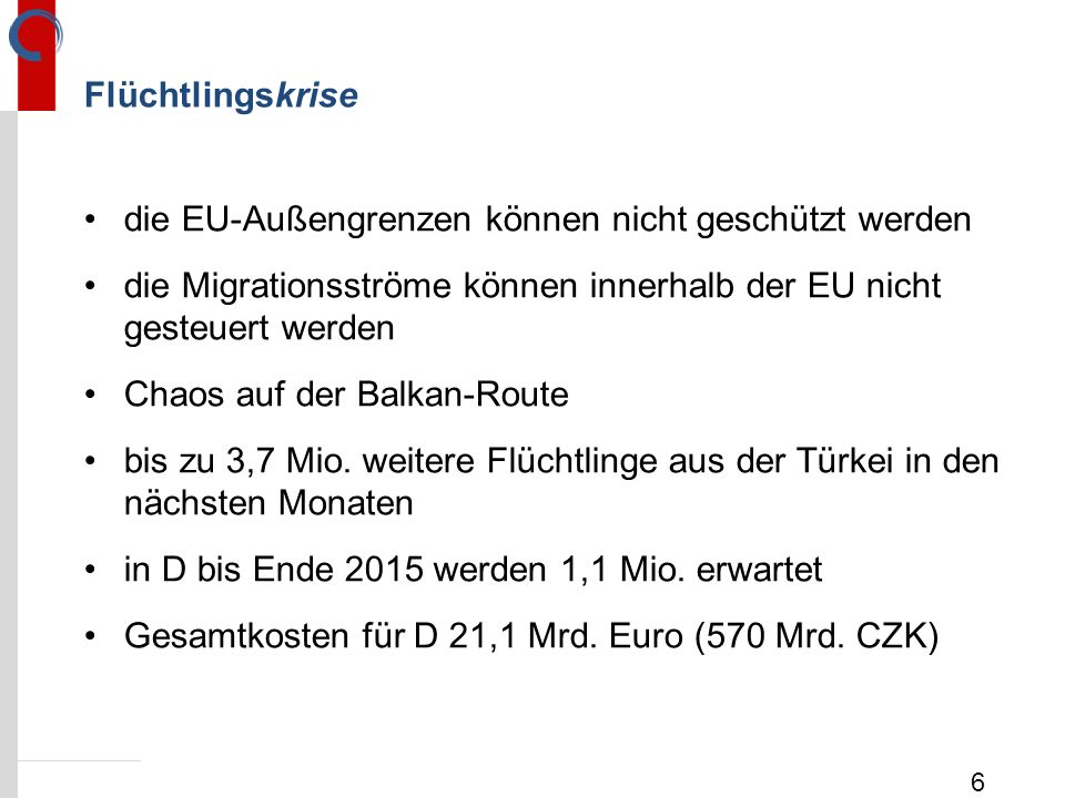 die EU-Außengrenzen können nicht geschützt werden