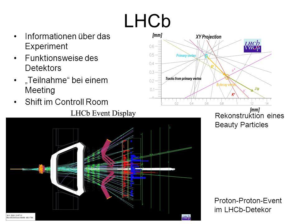 LHCb Informationen über das Experiment Funktionsweise des Detektors