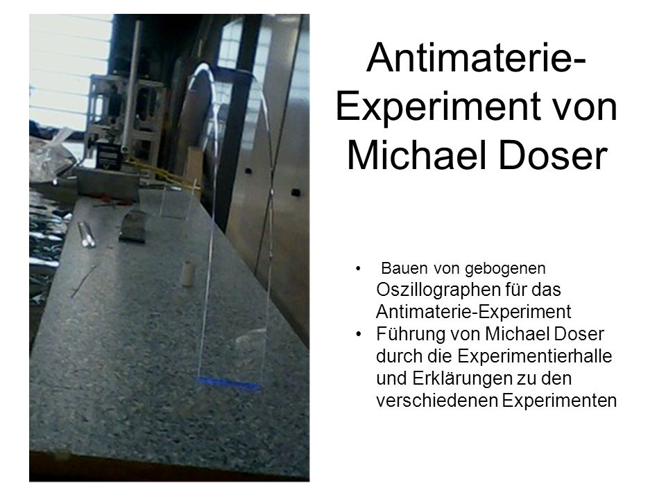 Antimaterie-Experiment von Michael Doser