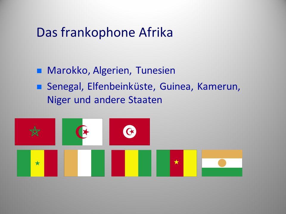 Das frankophone Afrika