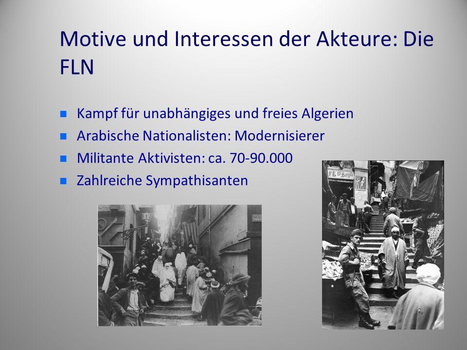 Motive und Interessen der Akteure: Die FLN