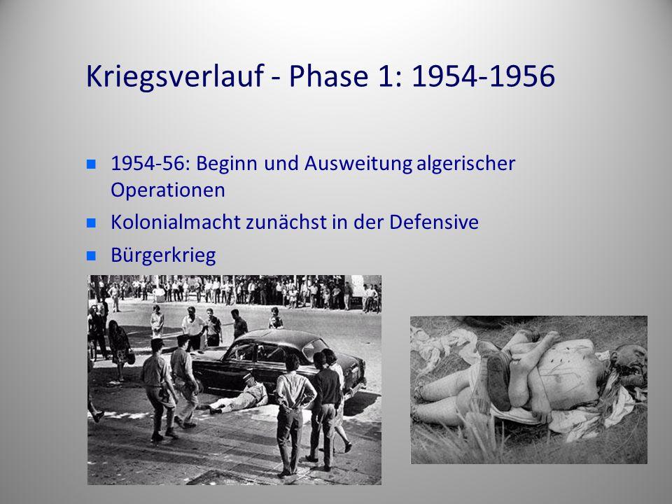 Kriegsverlauf - Phase 1: 1954-1956
