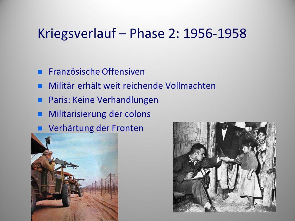 Kriegsverlauf – Phase 2: 1956-1958