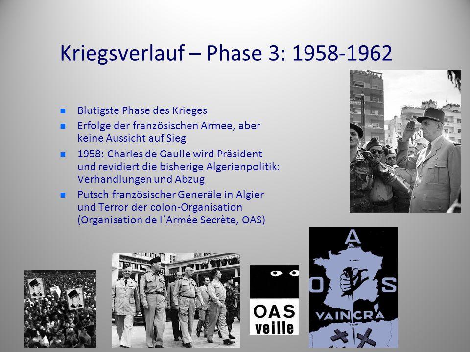 Kriegsverlauf – Phase 3: 1958-1962