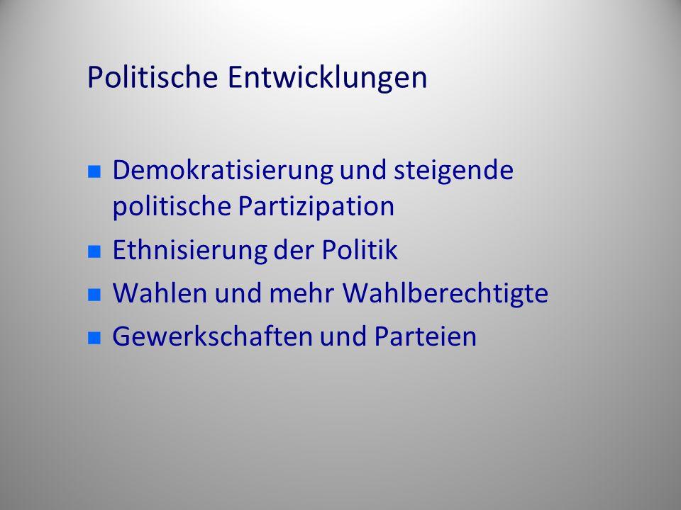 Politische Entwicklungen