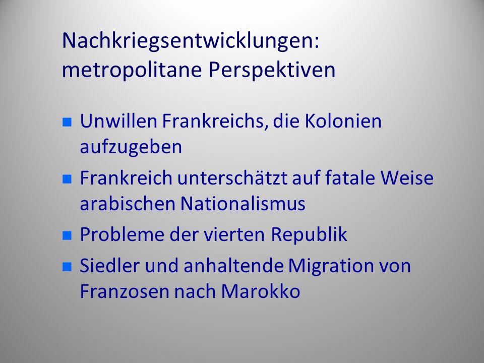 Nachkriegsentwicklungen: metropolitane Perspektiven
