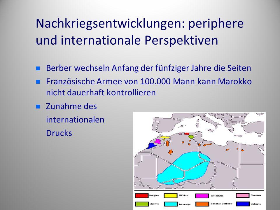Nachkriegsentwicklungen: periphere und internationale Perspektiven
