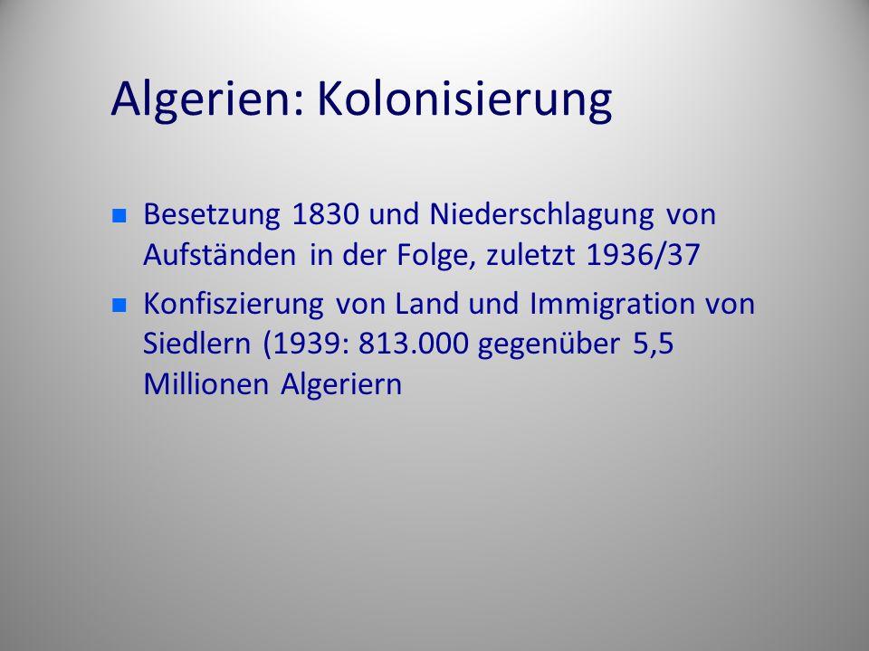 Algerien: Kolonisierung