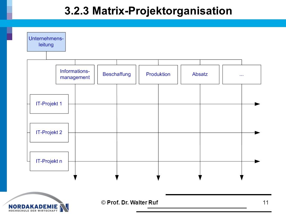 3.2.3 Matrix-Projektorganisation