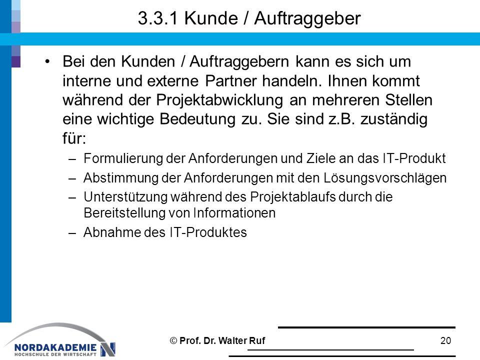 3.3.1 Kunde / Auftraggeber