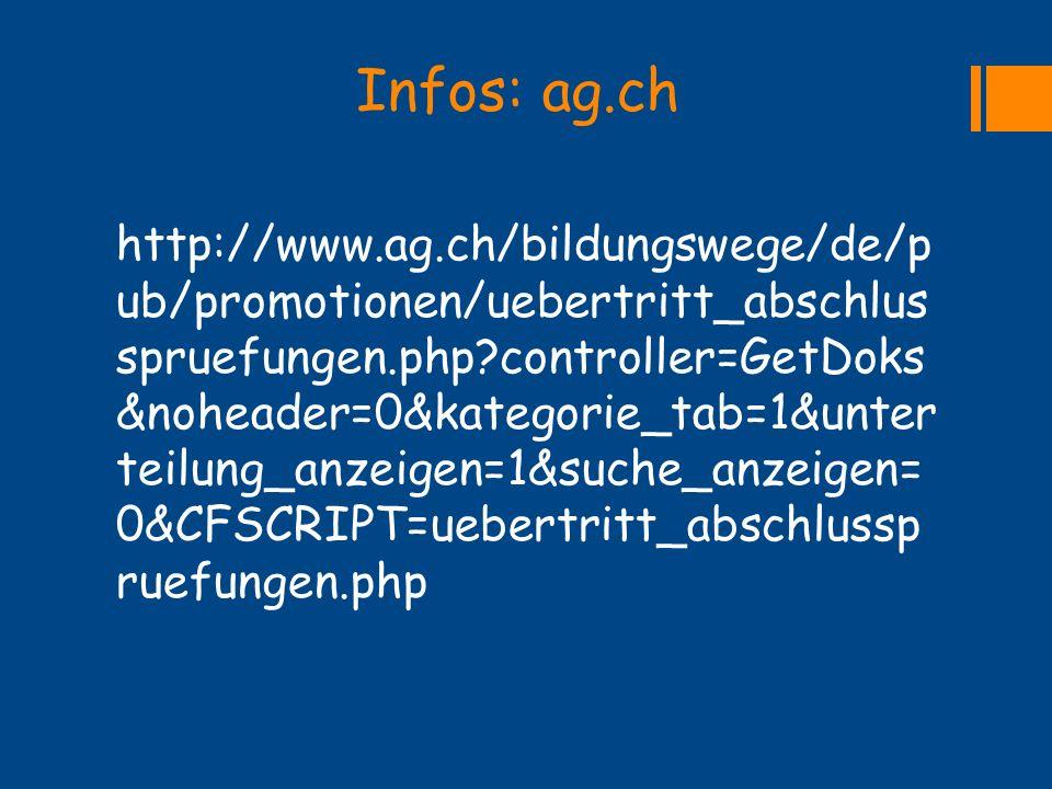 Infos: ag.ch