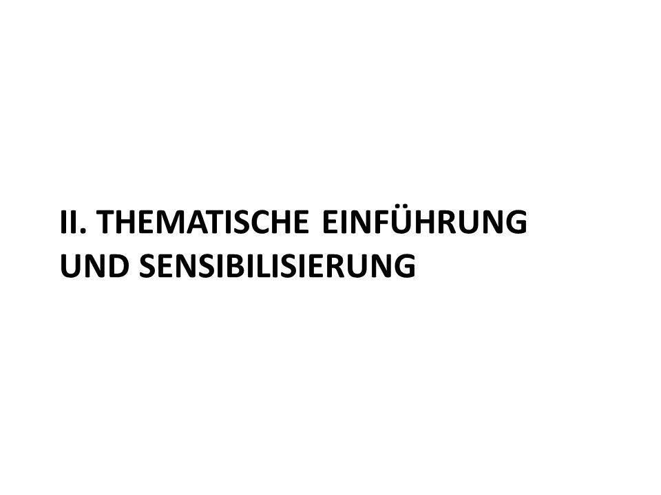 II. Thematische Einführung und Sensibilisierung