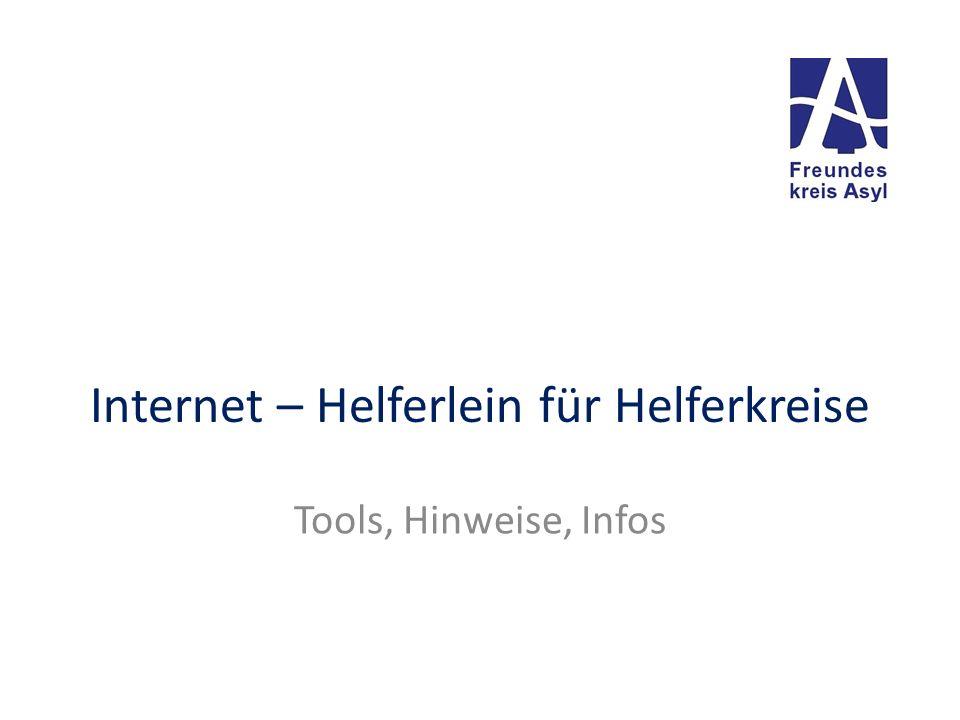 Internet – Helferlein für Helferkreise