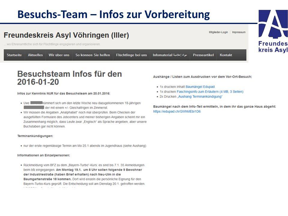 Besuchs-Team – Infos zur Vorbereitung