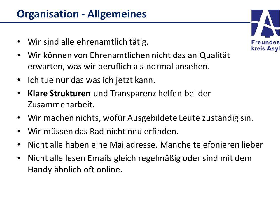 Organisation - Allgemeines