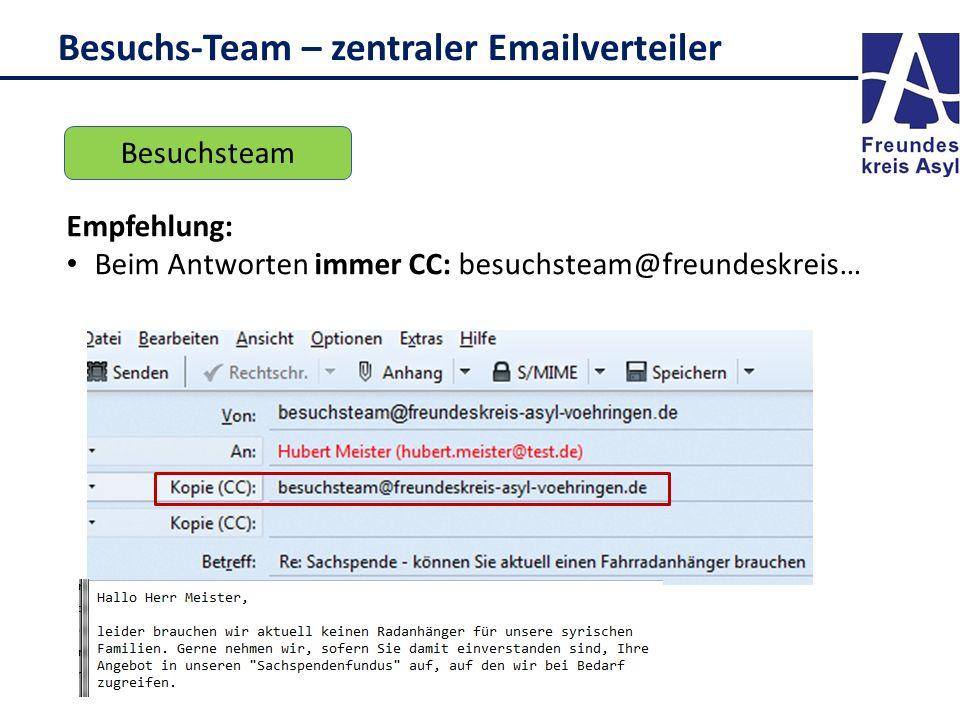 Besuchs-Team – zentraler Emailverteiler