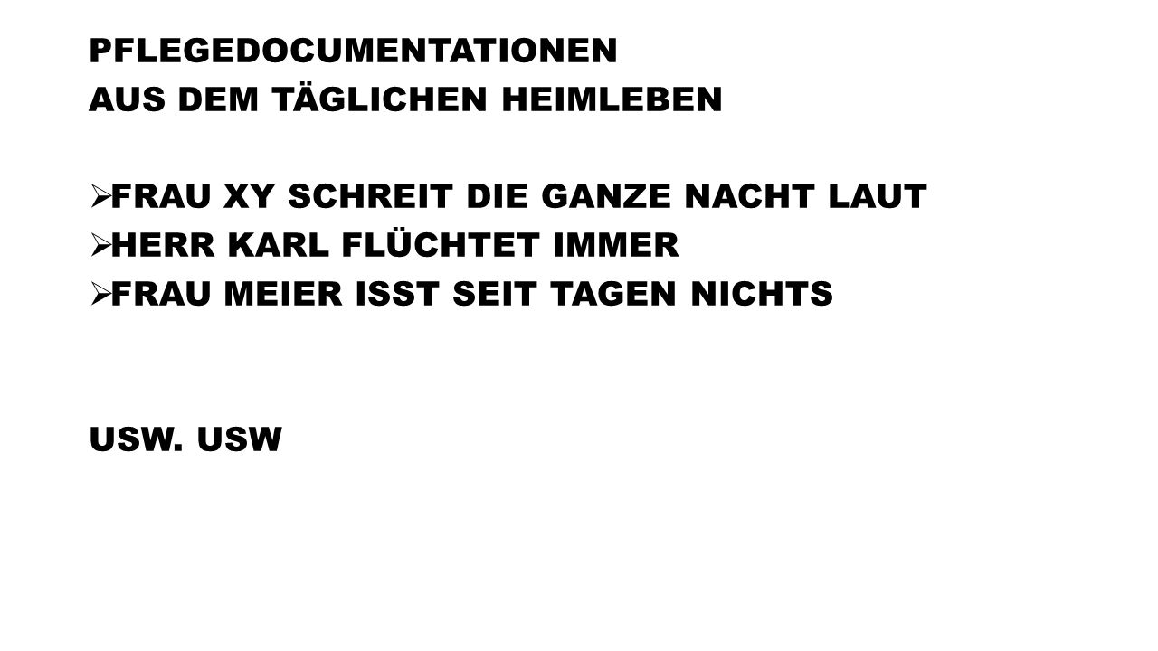 PFLEGEDOCUMENTATIONEN