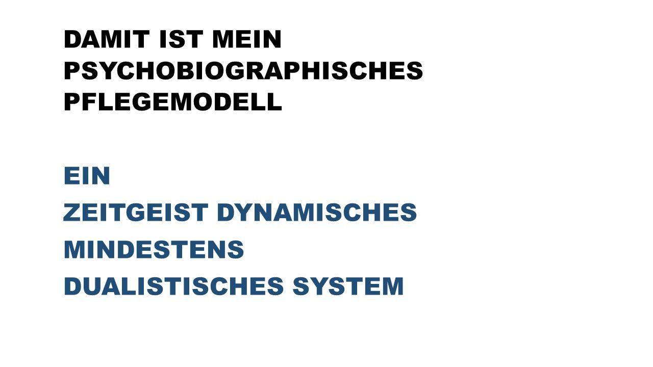 DAMIT IST MEIN PSYCHOBIOGRAPHISCHES PFLEGEMODELL EIN