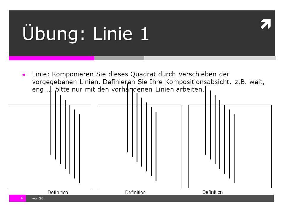 Übung: Linie 1