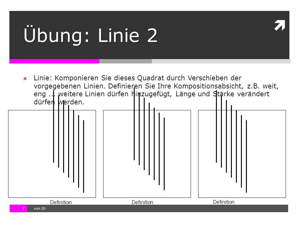Übung: Linie 2
