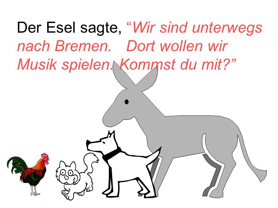 Der Esel sagte, Wir sind unterwegs nach Bremen