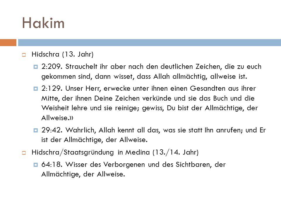 Hakim Hidschra (13. Jahr)