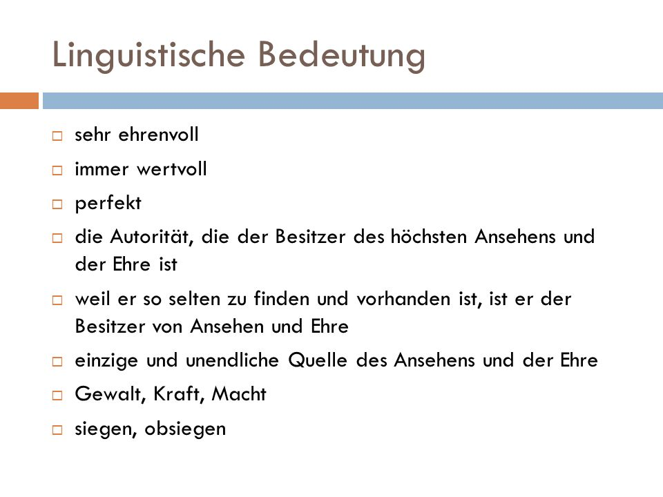 Linguistische Bedeutung