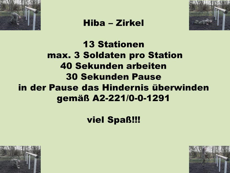 Hiba – Zirkel 13 Stationen max