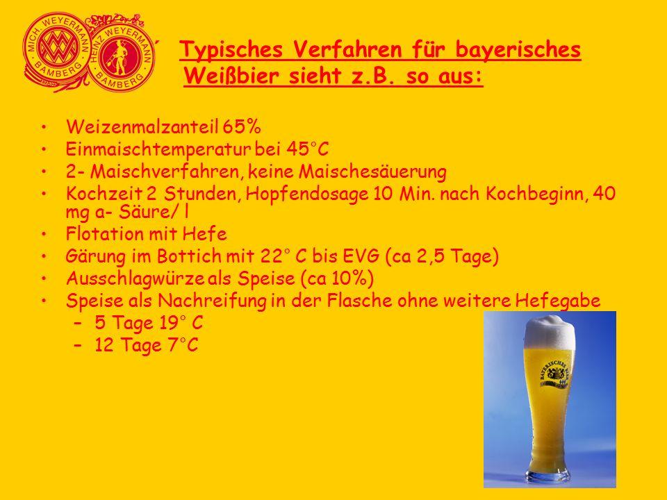 ´ Typisches Verfahren für bayerisches Weißbier sieht z.B. so aus: