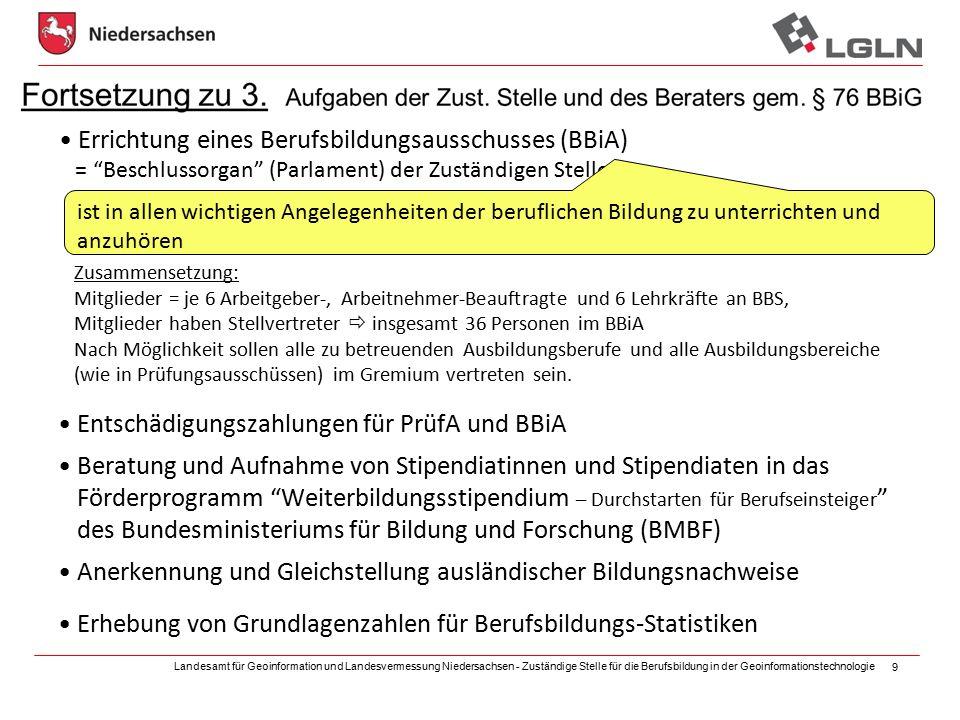Errichtung eines Berufsbildungsausschusses (BBiA)