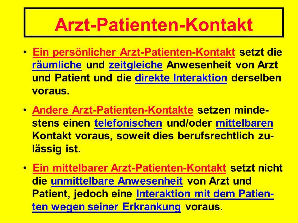 Arzt-Patienten-Kontakt