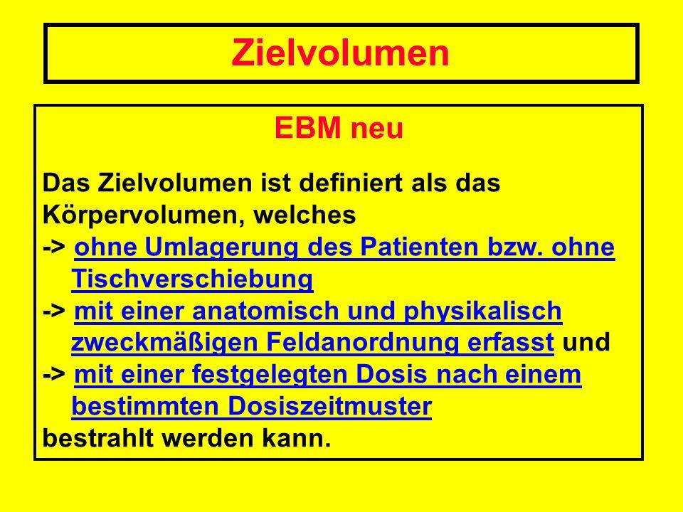 Zielvolumen EBM neu. Das Zielvolumen ist definiert als das Körpervolumen, welches.