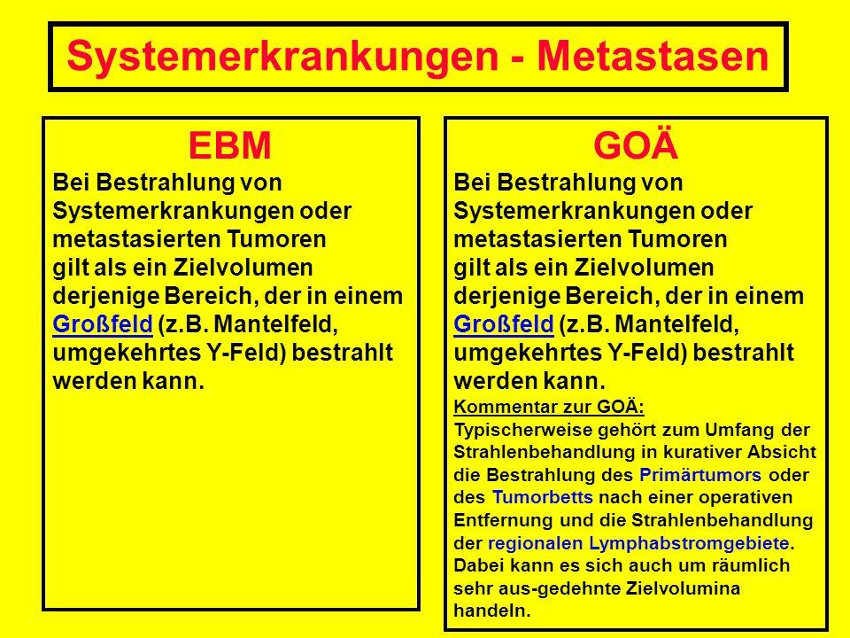 Systemerkrankungen - Metastasen